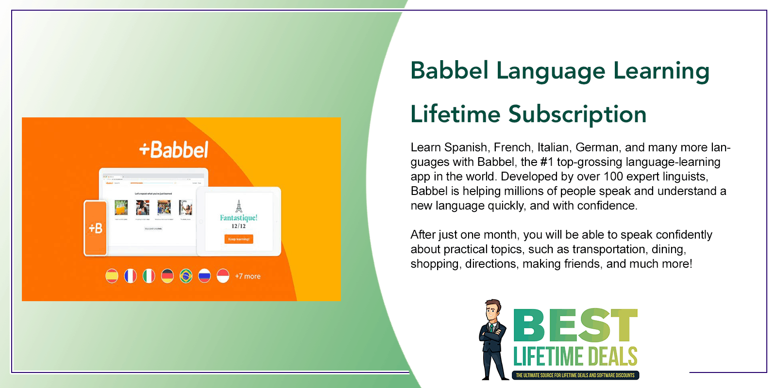 Babbel Language Learning Lifetime Subscription Post Image