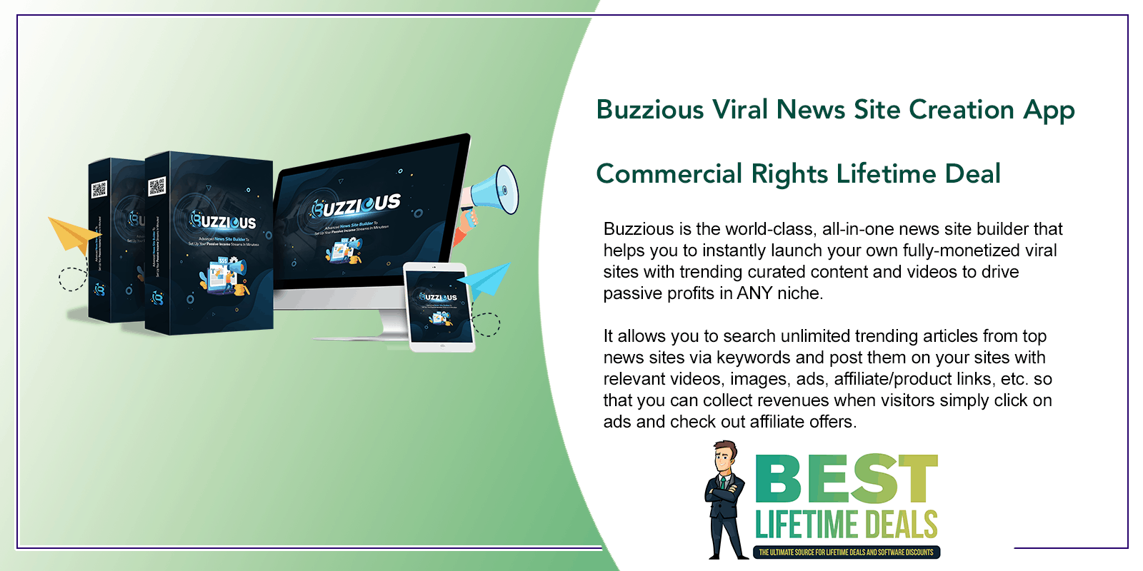 Buzzious Viral News Site Creation App Featured Image