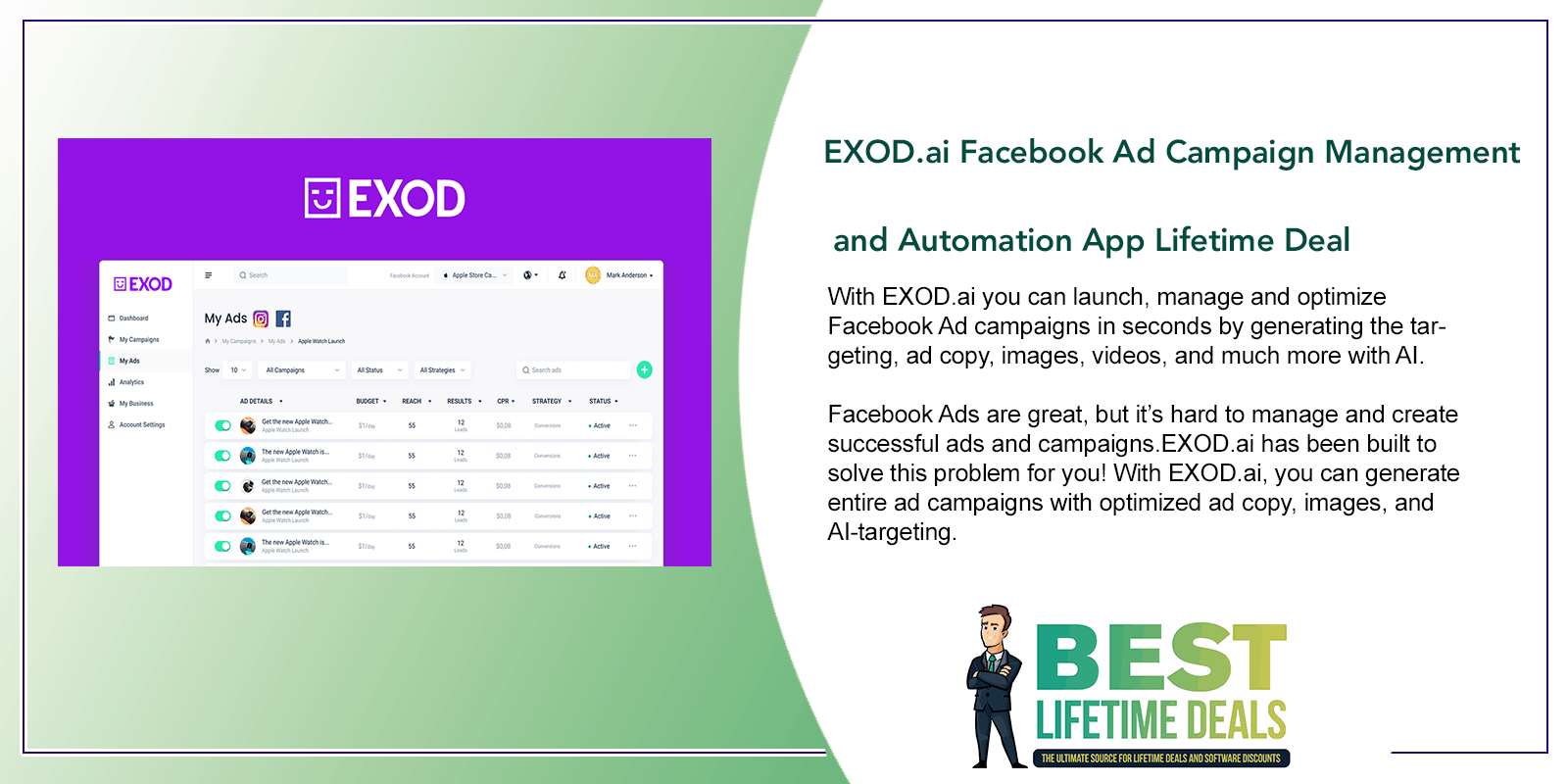 EXOD.ai Facebook Ad Campaign Management and Automation App Featured Image