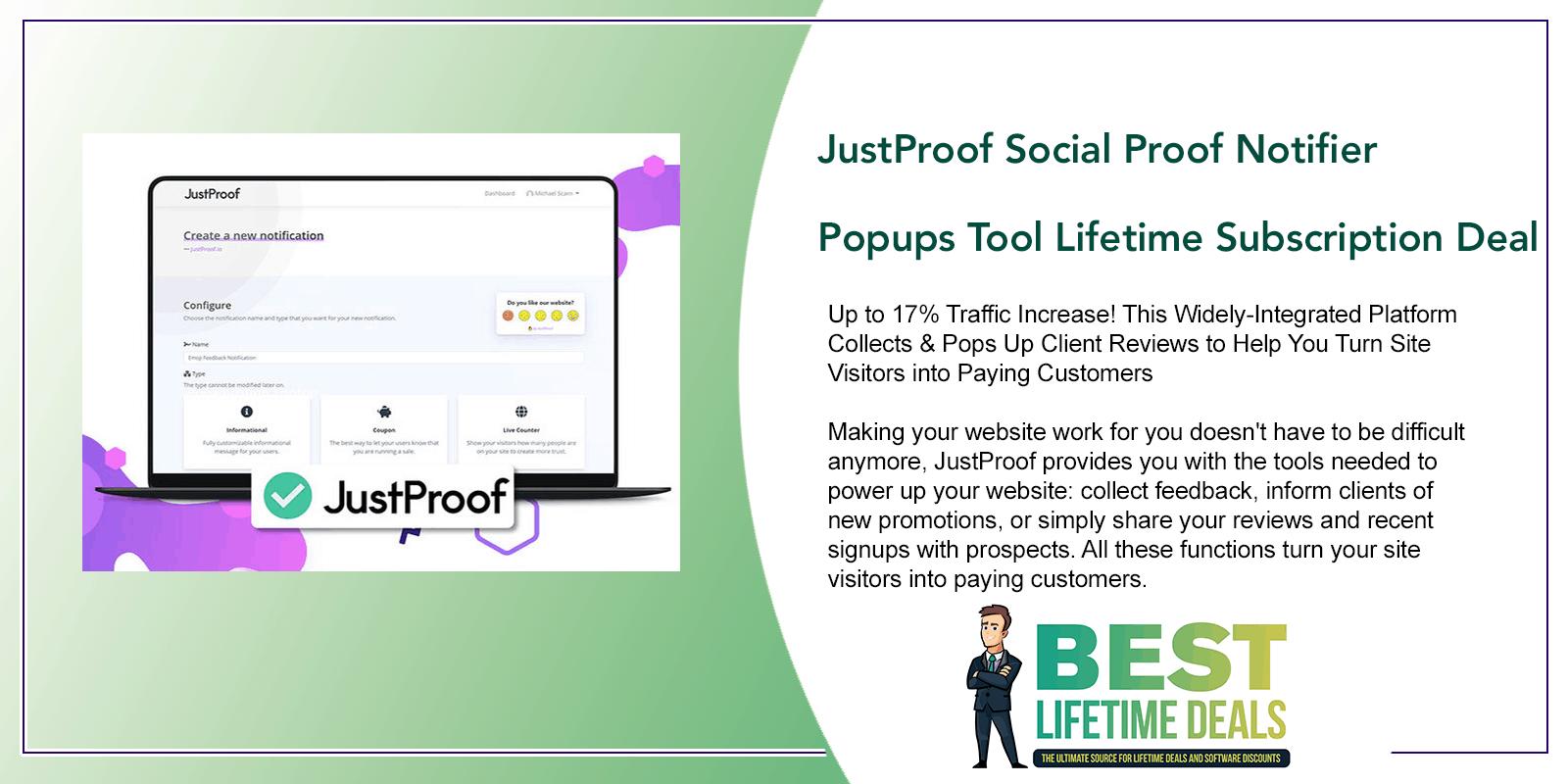 JustProof Social Proof Notifier Featured Image