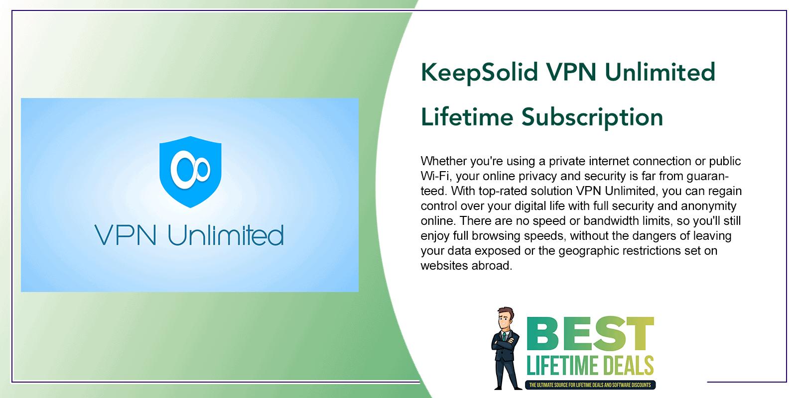 KeepSolid VPN Unlimited Lifetime Subscription Post Image