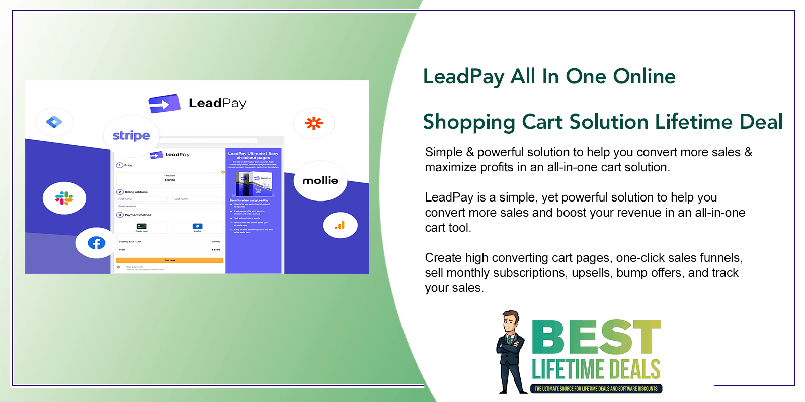LeadPay All In One Online Shopping Cart Solution Lifetime Deal