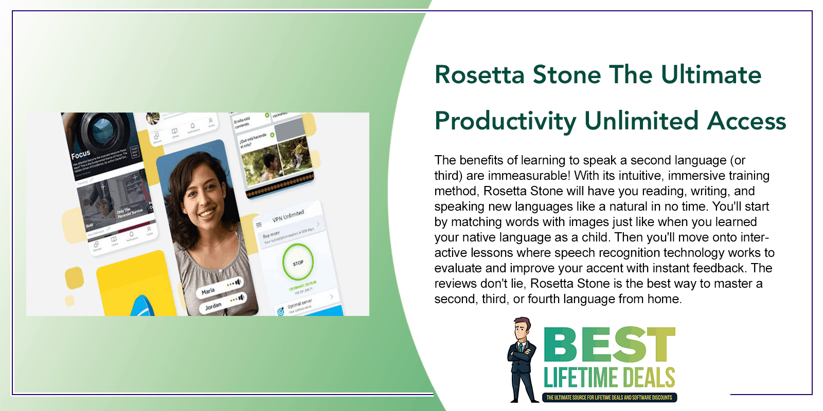 Rosetta Stone The Ultimate Productivity Unlimited Access Lifetime Subscription Post Image