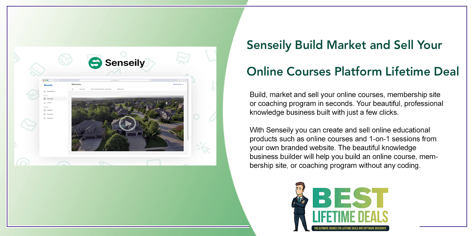 Senseily Build Market and Sell Your Online Courses Platform Featured Image