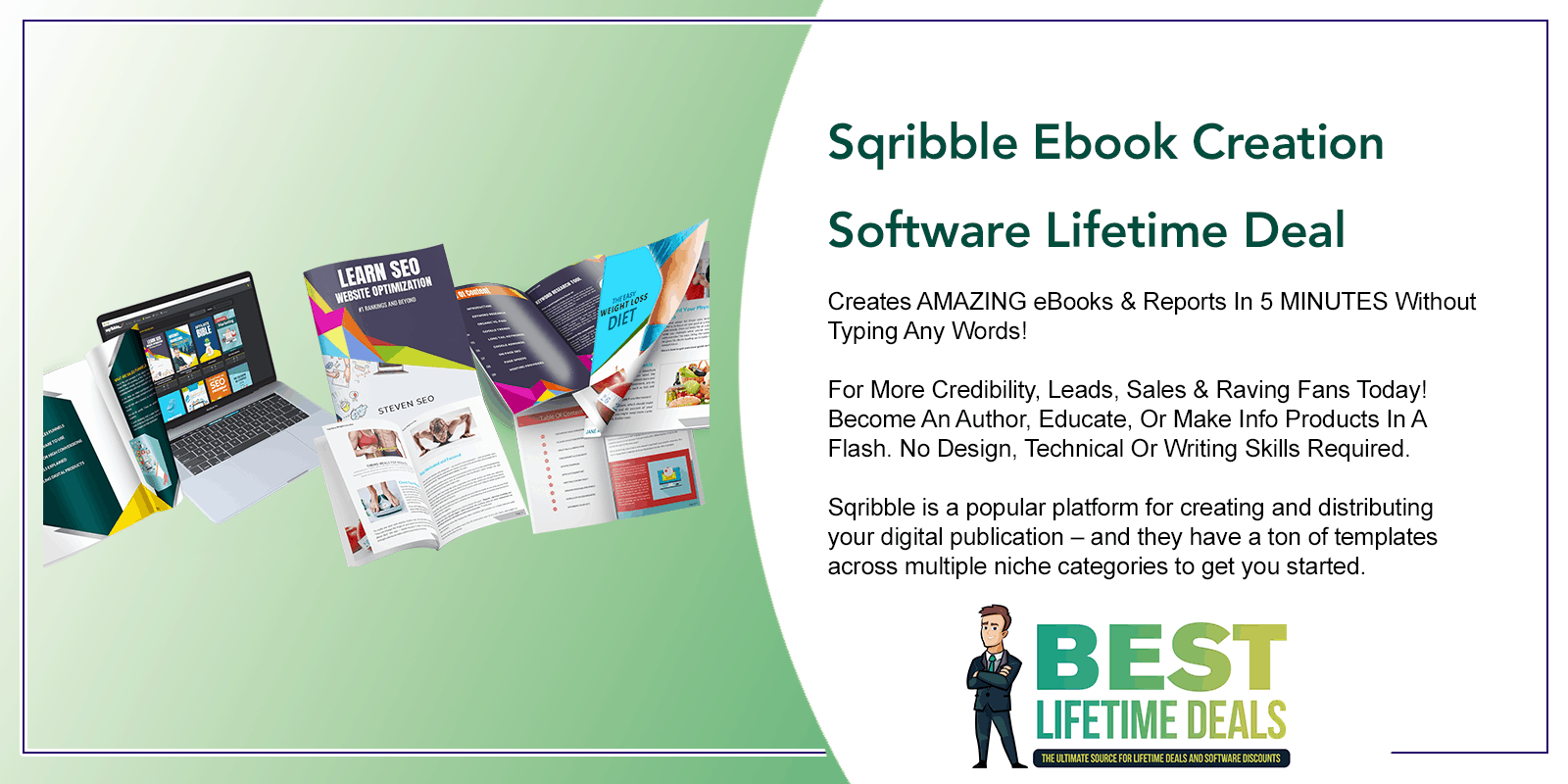 Sqribble Ebook Creation Software Lifetime Deal Post Image