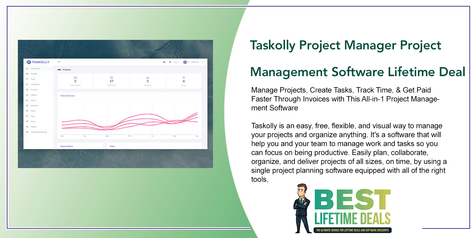 Taskolly Project Manager Project Management Software Lifetime Deal