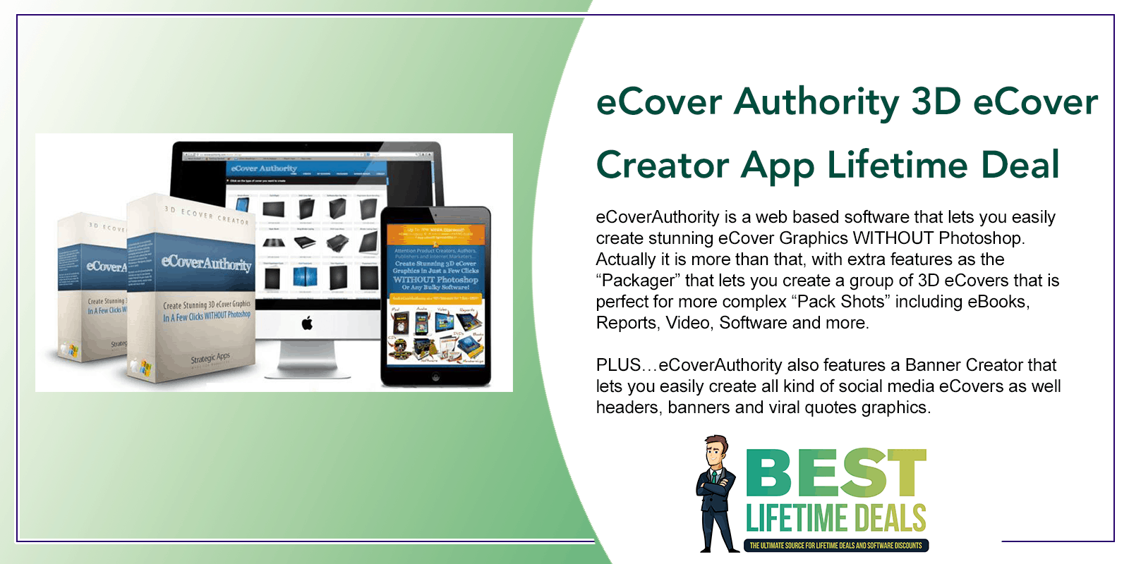 eCover Authority 3D eCover Creator App Lifetime Deal