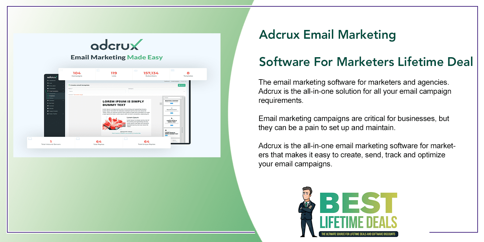 Adcrux Email Marketing Software For Marketers Featured Image