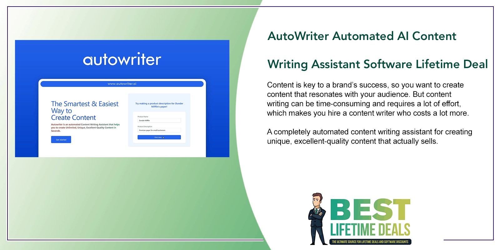 AutoWriter Automated AI Content Writing Assistant Software Featured Image