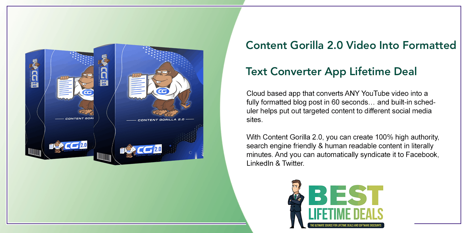 Content Gorilla 2.0 Video Into Formatted Text Converter App Featured Image