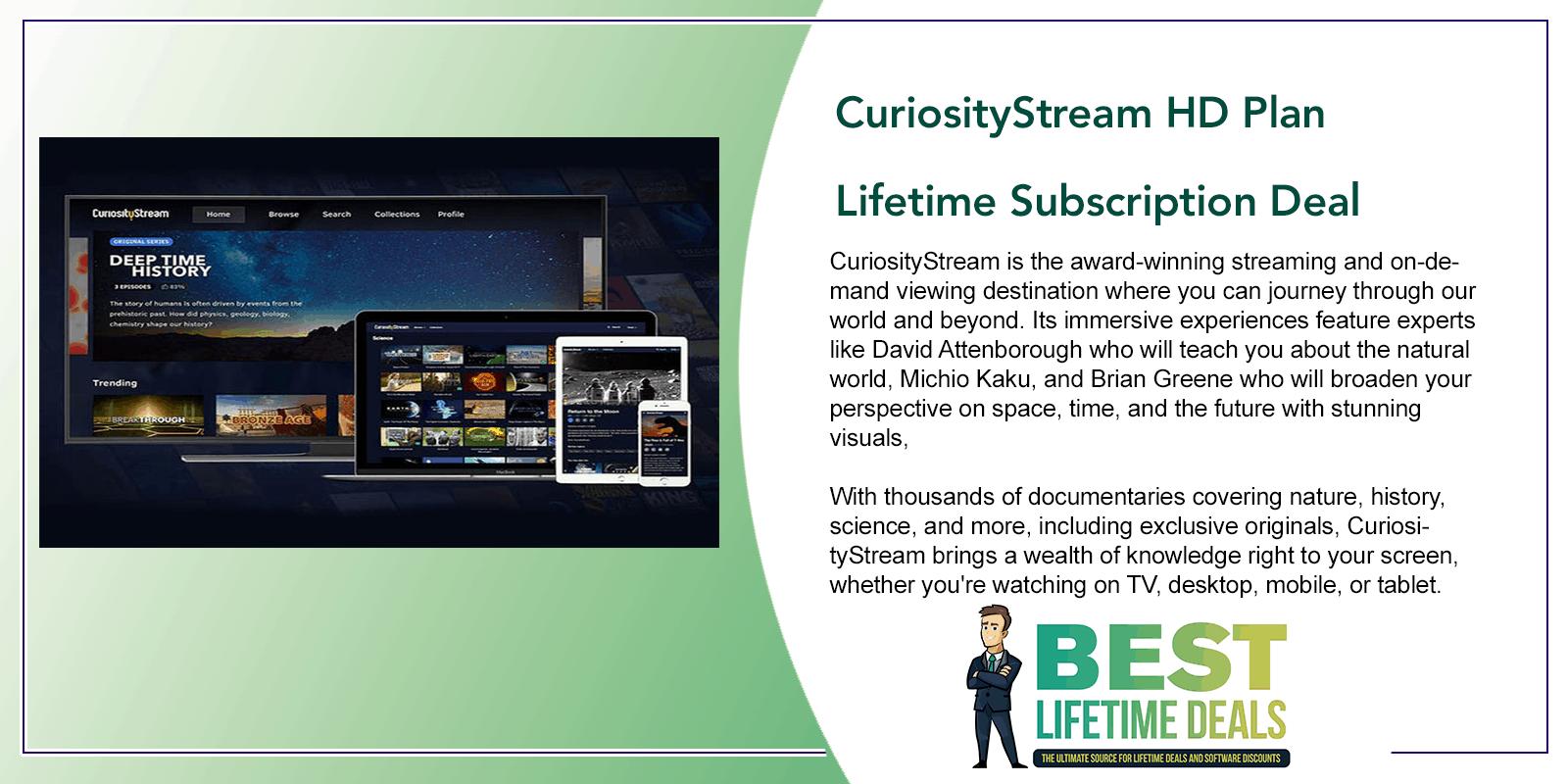 CuriosityStream HD Plan Lifetime Subscription Deal