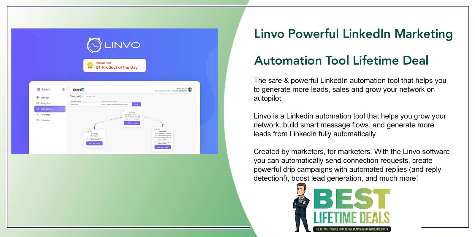 Linvo Powerful LinkedIn Marketing Automation Tool Featured Image