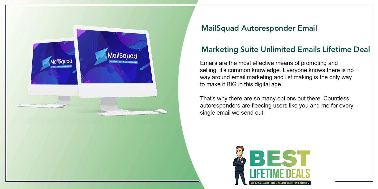MailSquad Autoresponder Email Marketing Suite Unlimited Emails Featured Image