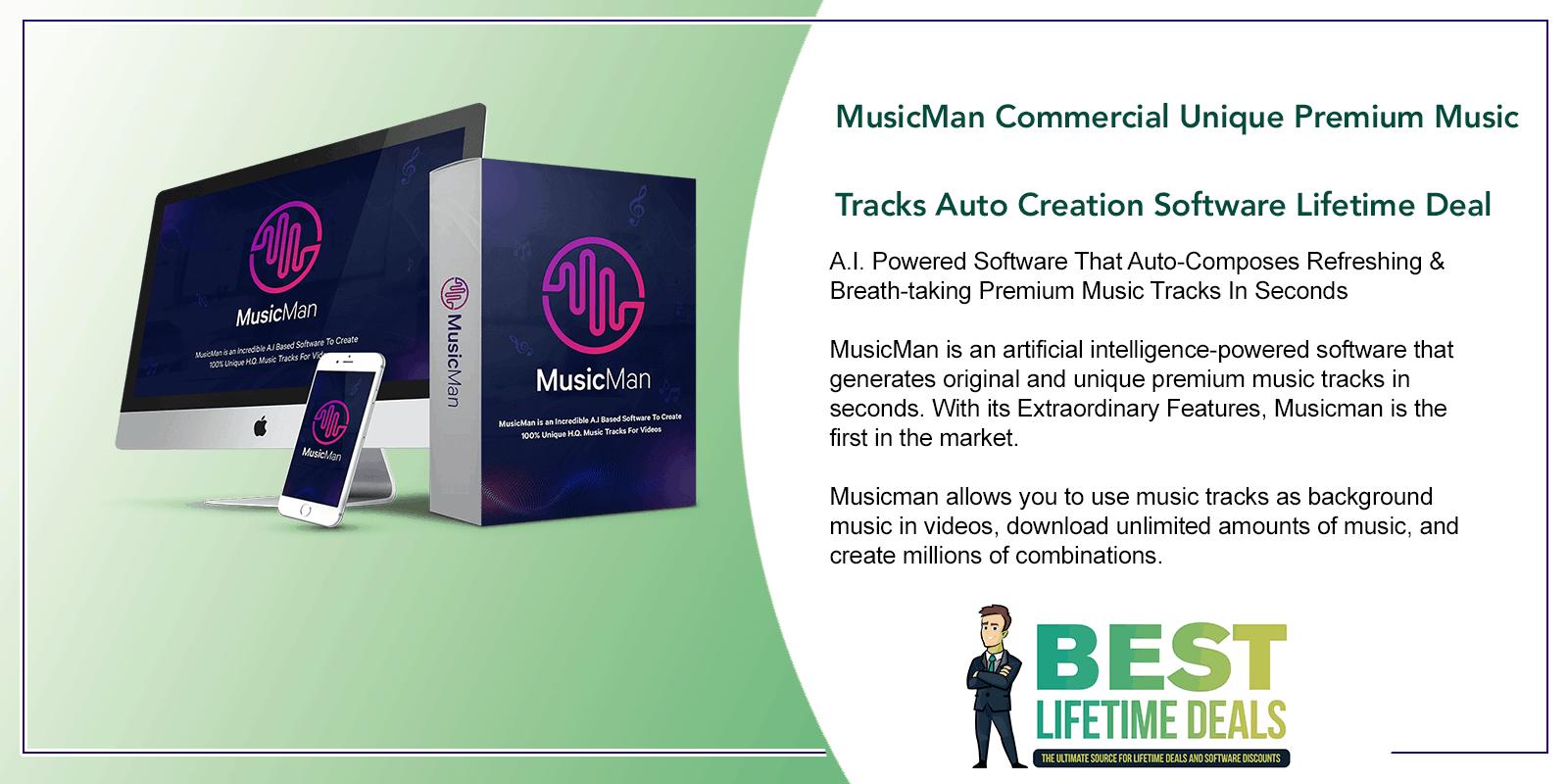 MusicMan Commercial Unique Premium Music Tracks Auto Creation Software Featured Image