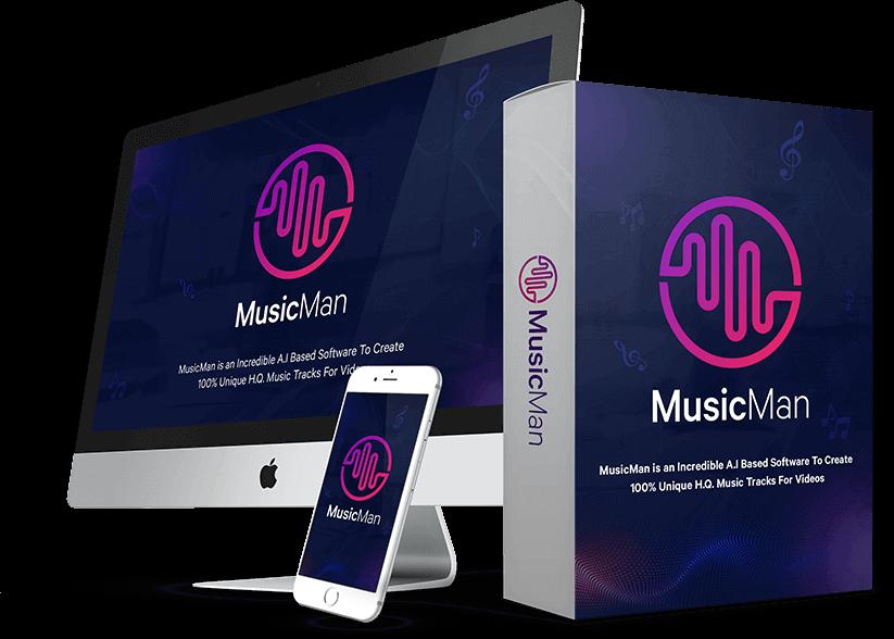MusicMan Commercial Unique Premium Music Tracks Auto Creation Software Lifetime Deal