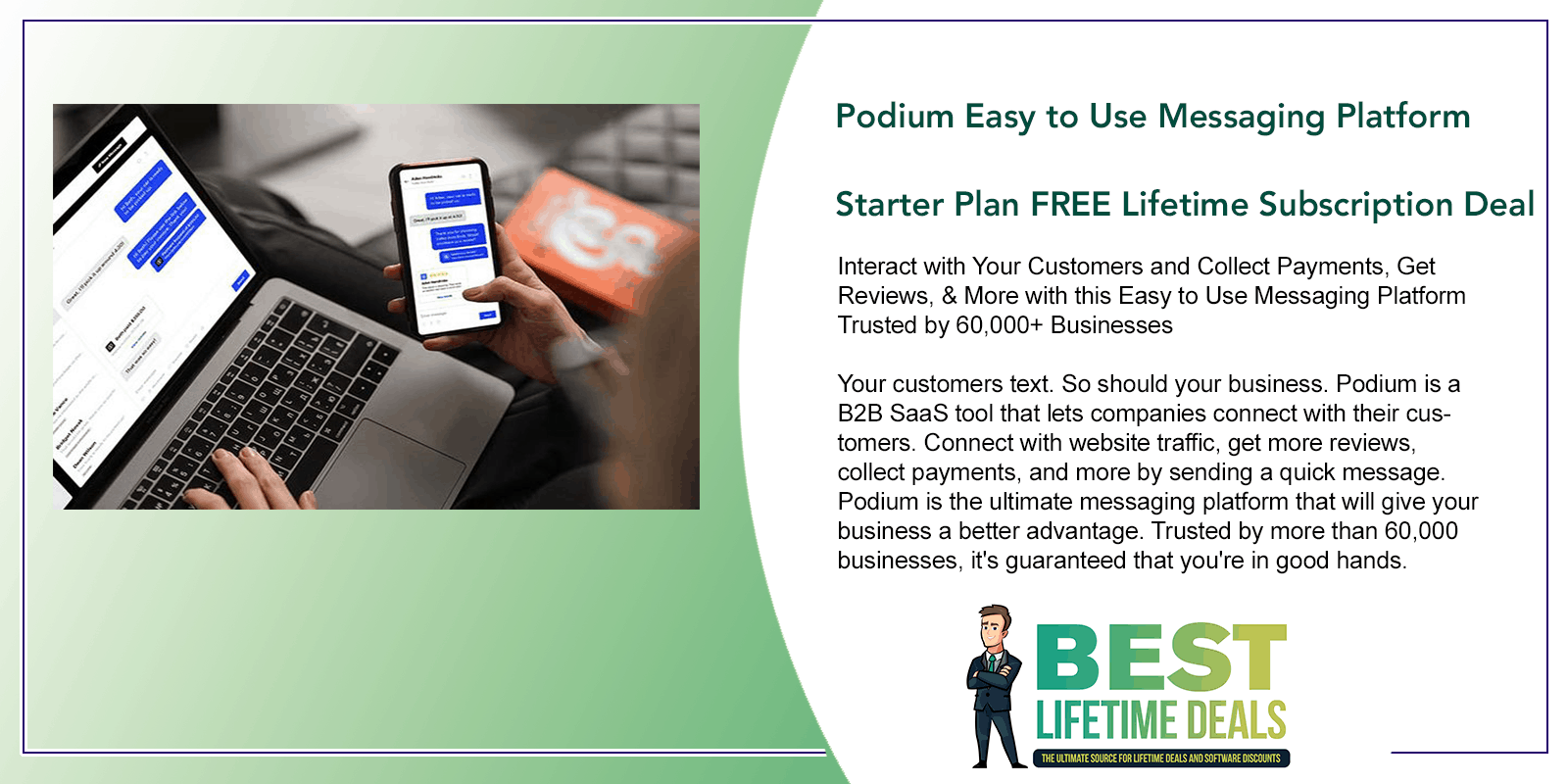 Podium Easy to Use Messaging Platform Starter Plan Featured Image