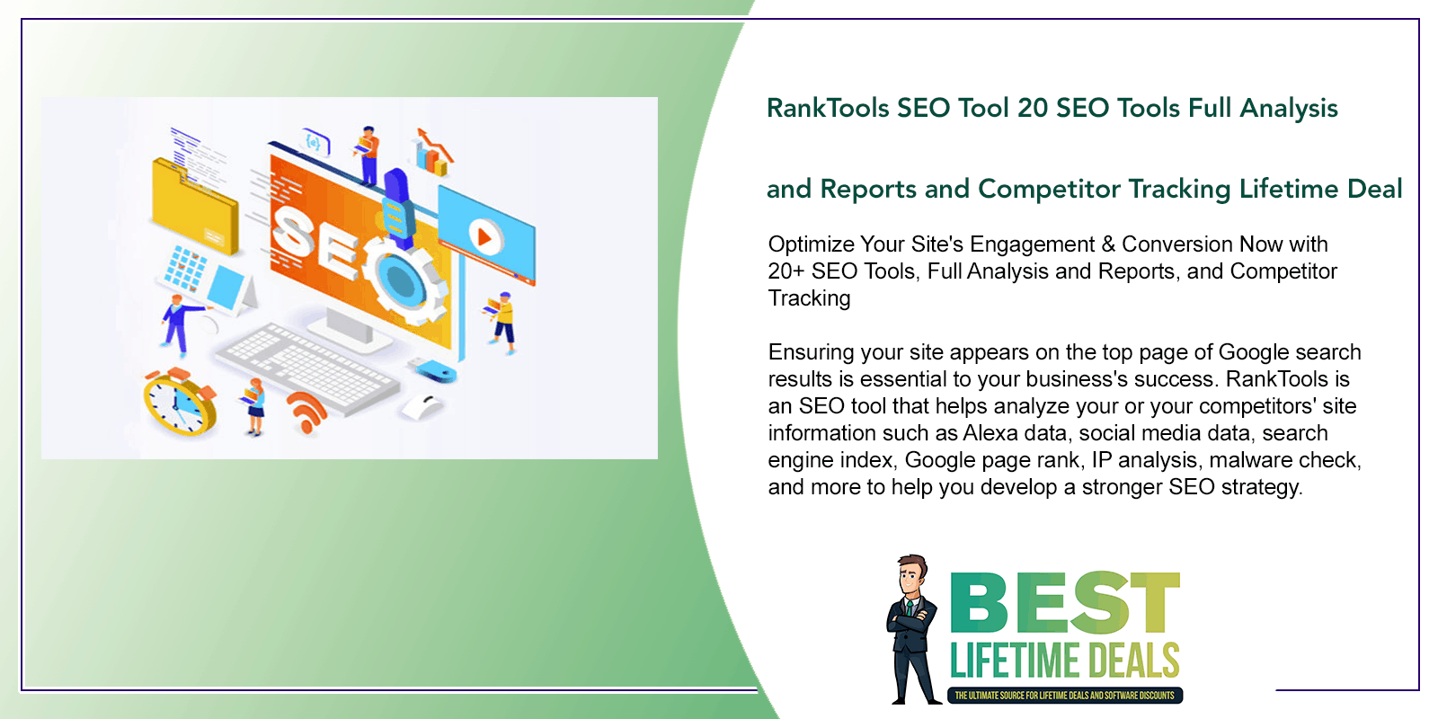 RankTools SEO Tool 20 SEO Tools Full Analysis and Reports and Competitor Tracking Featured Image