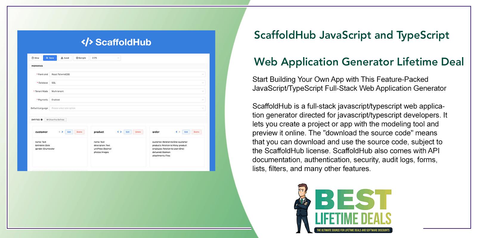 ScaffoldHub Developer Plan JavaScript and TypeScript Web Application Generator Featured Image