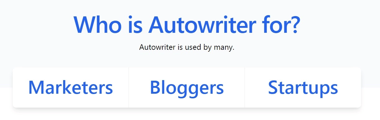Who is Autowriter for