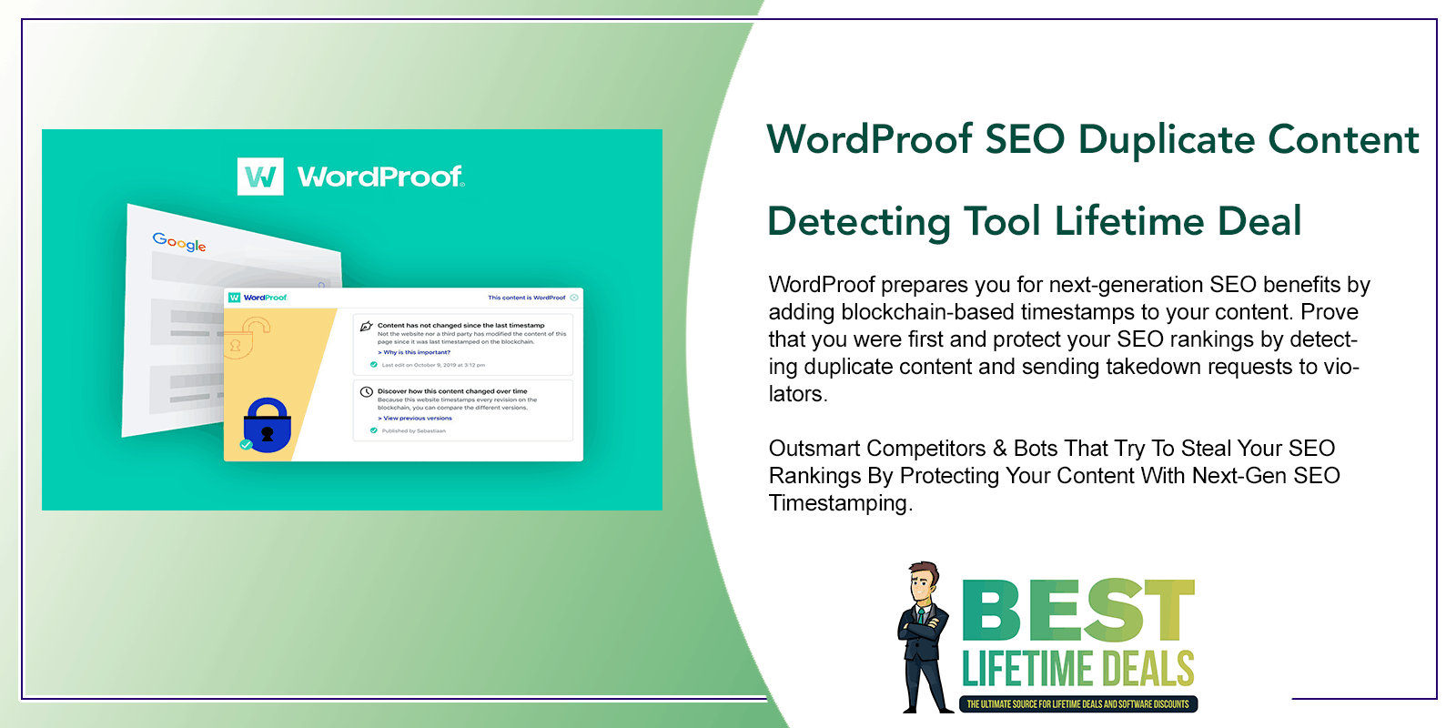 WordProof SEO Duplicate Content Detecting Tool Lifetime Deal