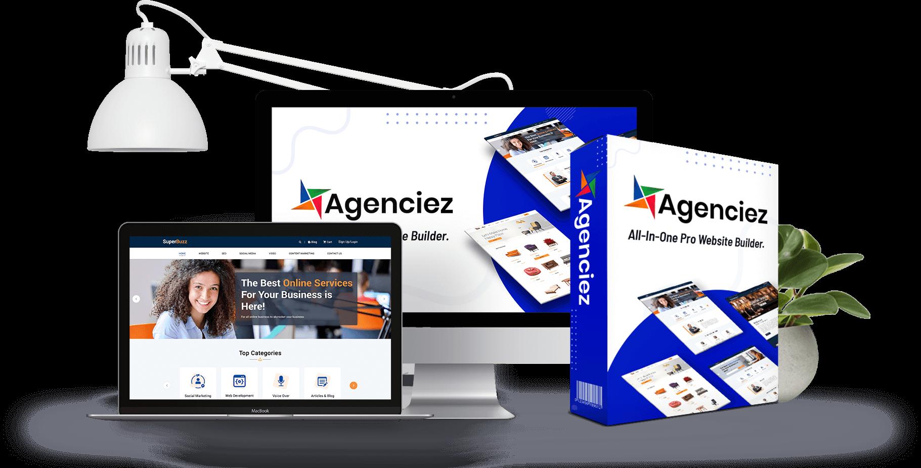 Agenciez Commercial Pro Website Builder WordPress Websites