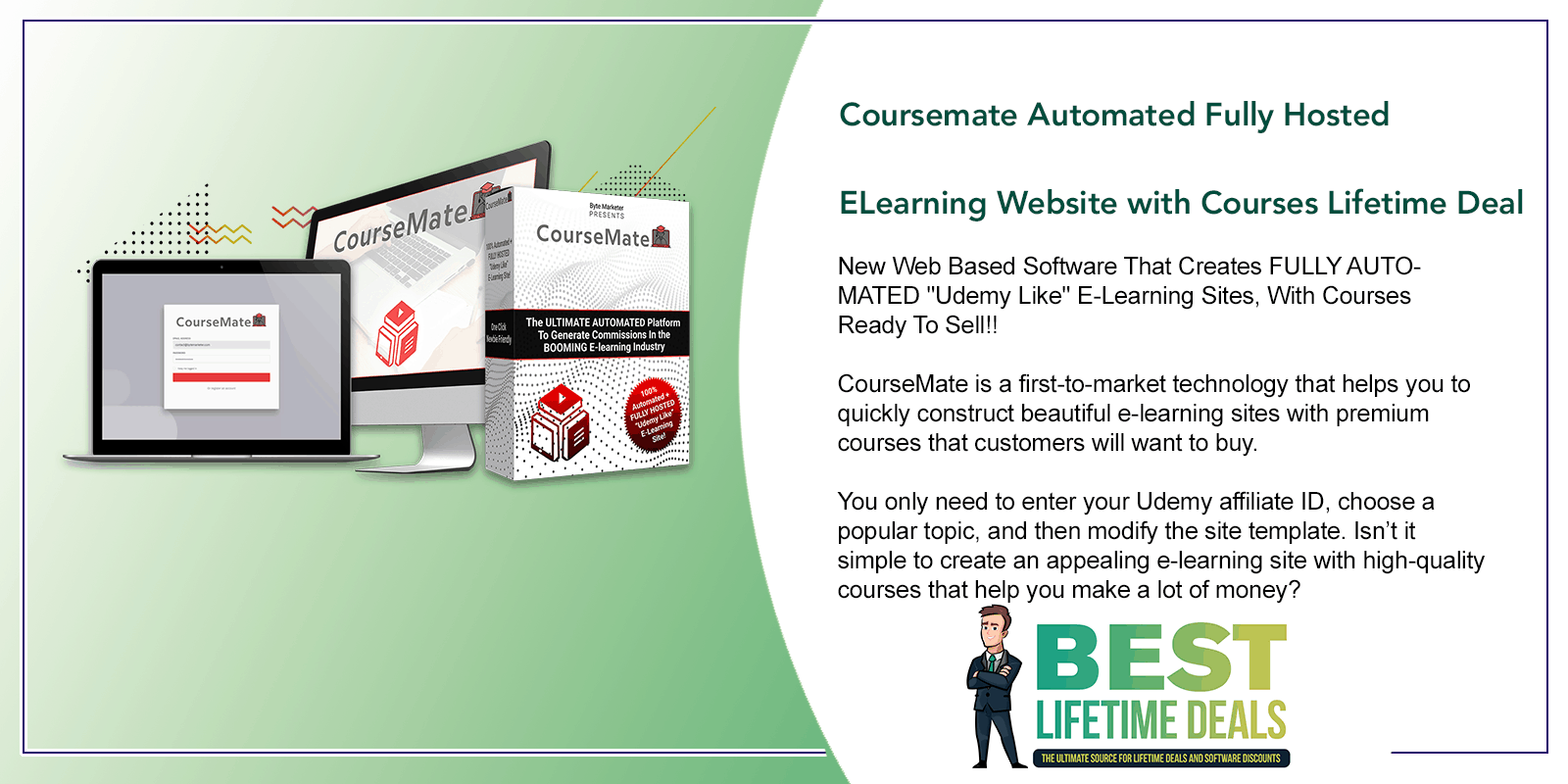 Coursemate Automated Fully Hosted ELearning Website Featured Image