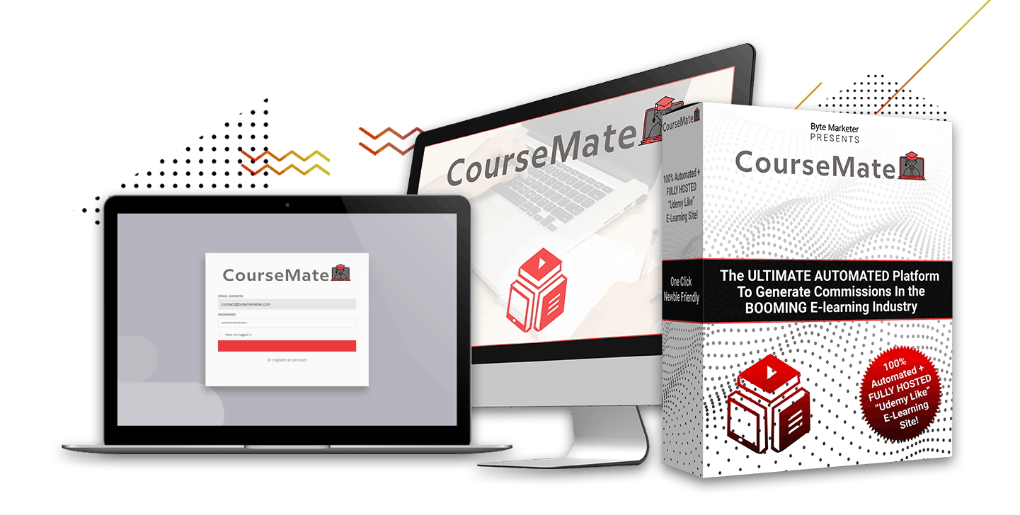 Coursemate Automated Fully Hosted ELearning Website
