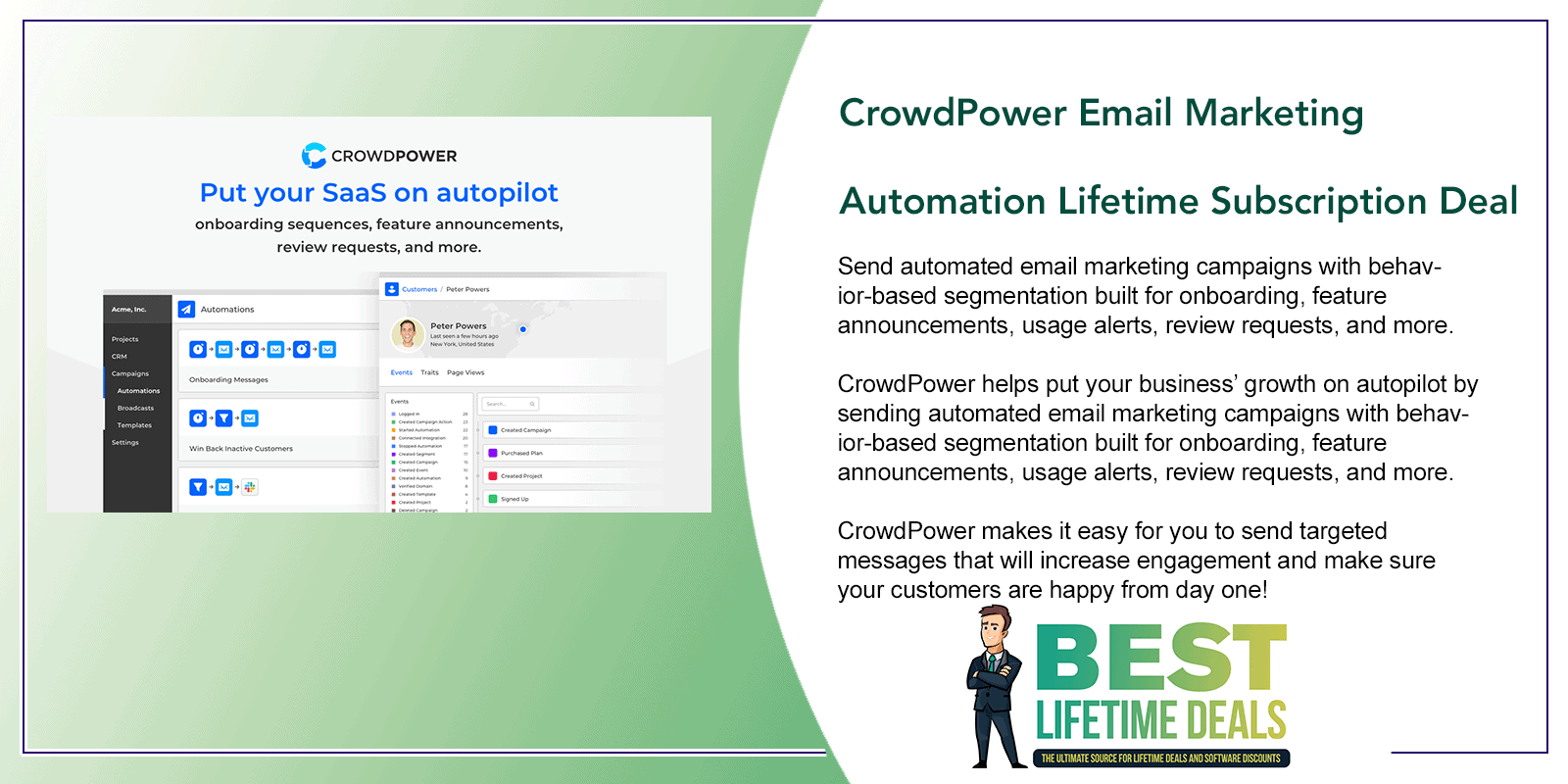 CrowdPower Email Marketing Automation Lifetime Featured Image