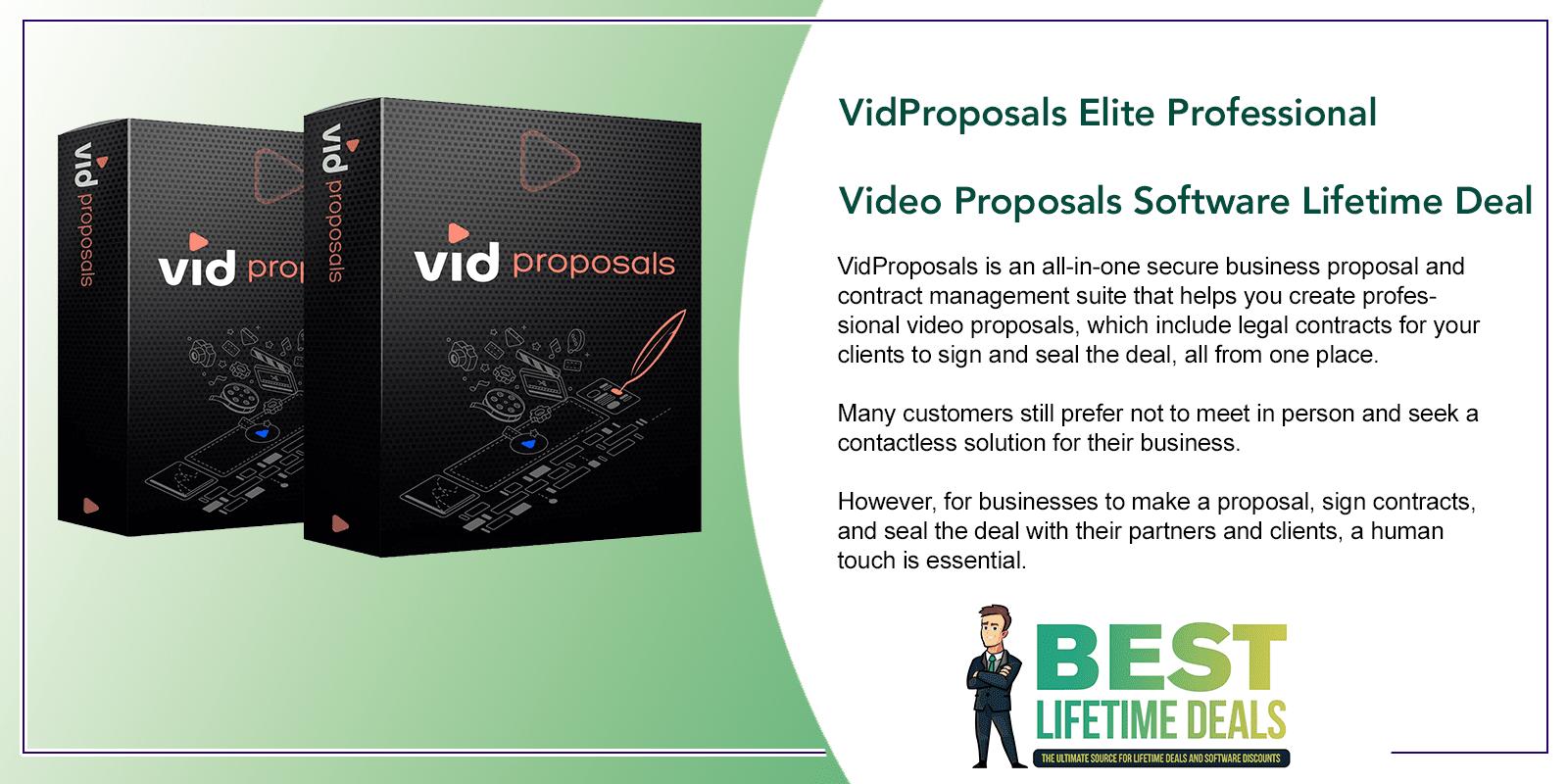 VidProposals Elite Professional Video Proposals Software Featured Image