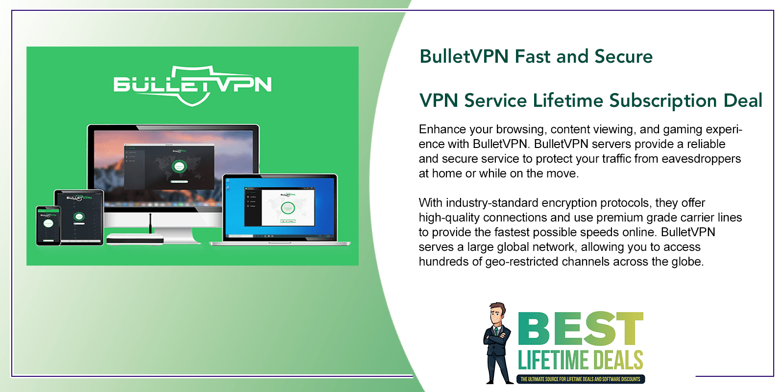 BulletVPN Fast and Secure VPN Service Featured Image