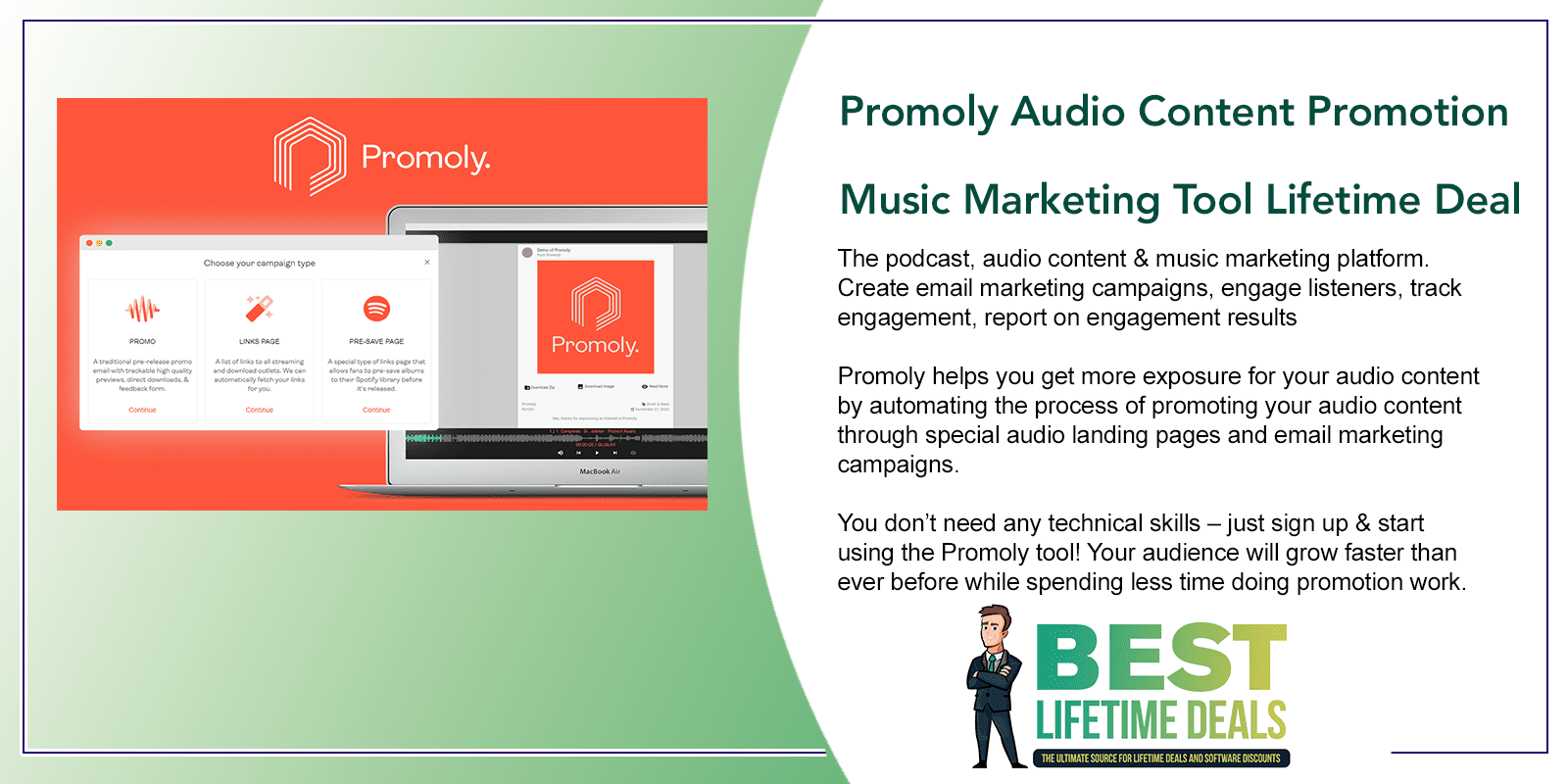 Promoly Audio Content Promotion Music Marketing Tool Featured Image