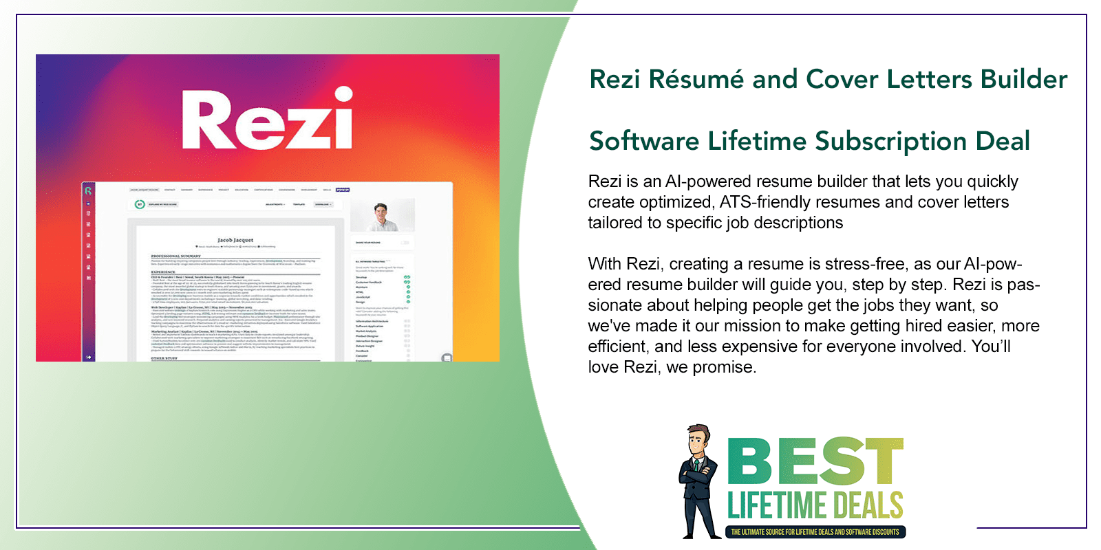 Rezi Resume and Cover Letters Builder Software Featured Image